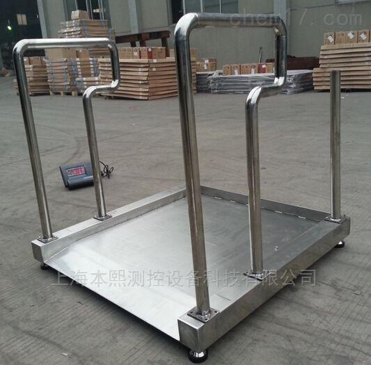 带RS232接口不锈钢手推轮椅秤