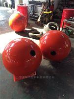 FQ600海平面水上警示浮球 直徑60公分雙耳PE浮球