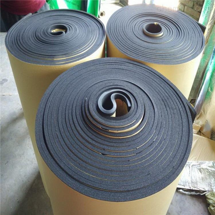 带铝箔橡塑保温板原料采用优异的橡胶
