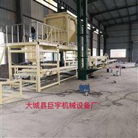 机制砂浆岩棉复合板生产线设备水泥抹面视频