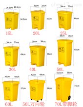 SP-JTSSWAQLJT脚踏式生物安全垃圾桶(加厚医疗废物桶)