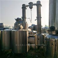 大量转让二手2吨三效浓缩蒸发器全套处理