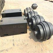 新疆1000kg圆滚型砝码,M1-1T铸铁砝码平板型