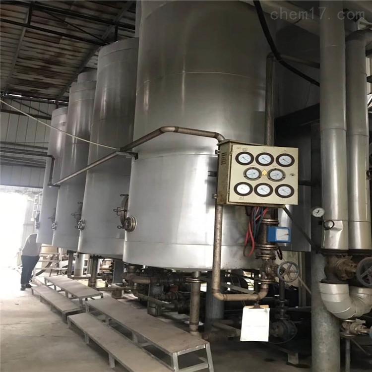 25吨化肥厂高盐废水处理二手三效降膜蒸发器