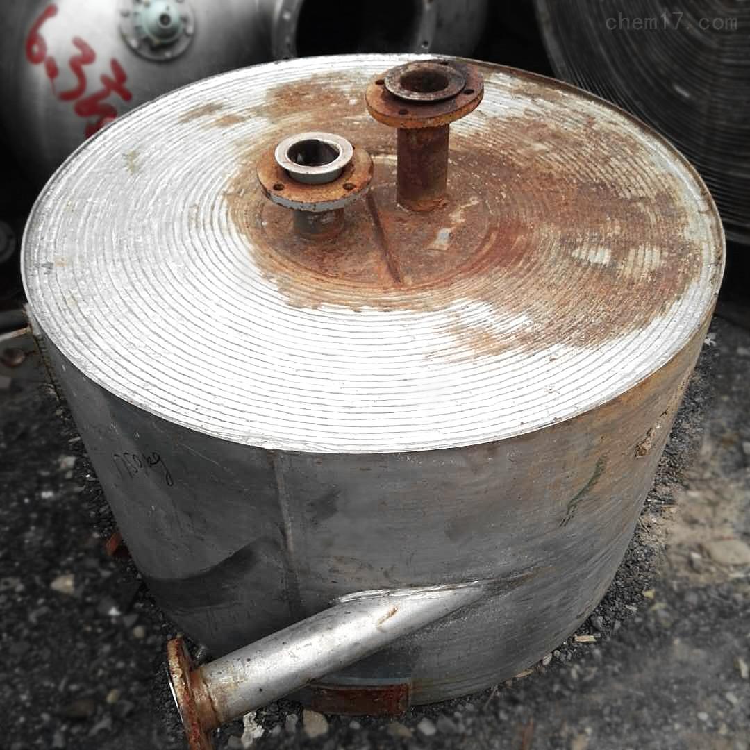 福建80平方二手全不锈钢螺旋板换热器卖废铁