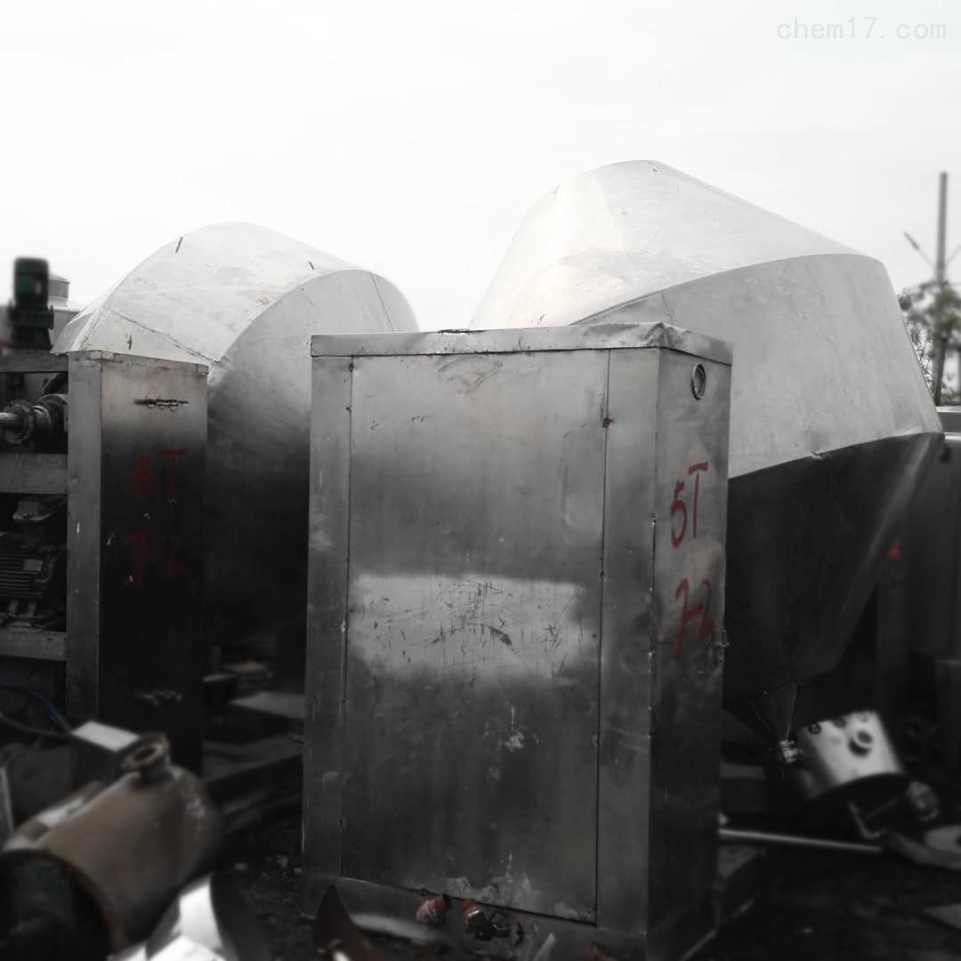 药厂转让3000升3立方二手搪瓷双锥干燥机
