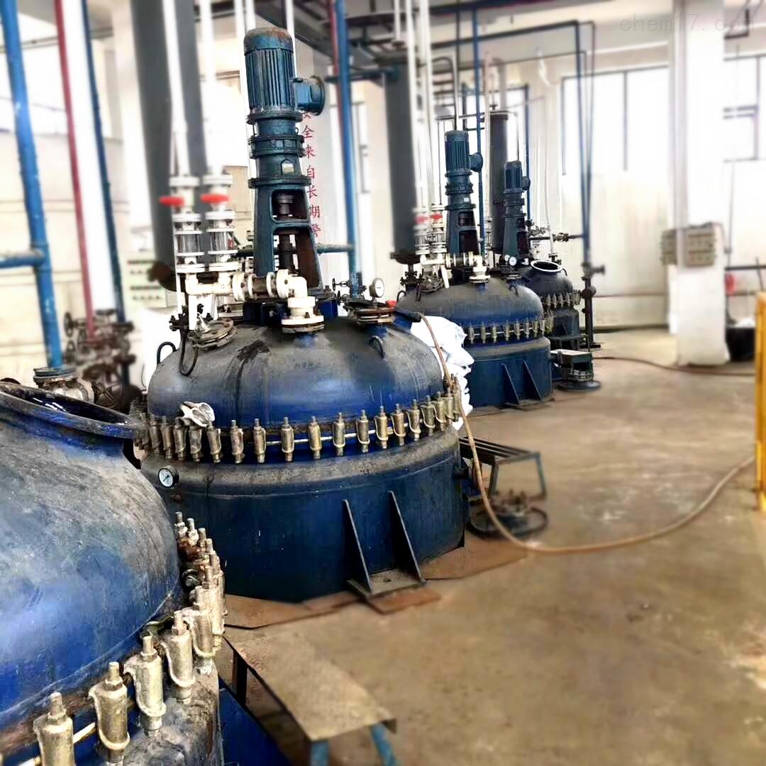 2立方2000升蒸汽加热二手太极搪瓷反应釜