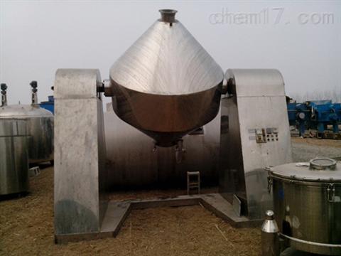 二手1吨不锈钢双锥干燥机全国回收