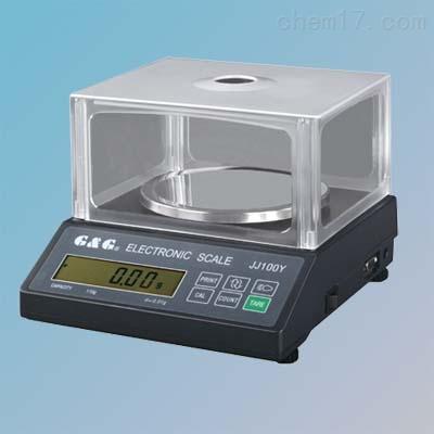 双杰JJ100Y/100g/0.01g百分之一电子天平