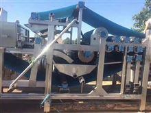 出售二手铁矿泥浆带式压滤机8成新威海