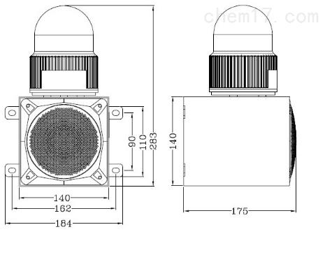 TGSG-018 工业一体化声光报警器专用