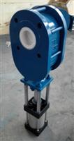 Z674TC气动对夹耐磨陶瓷出料阀