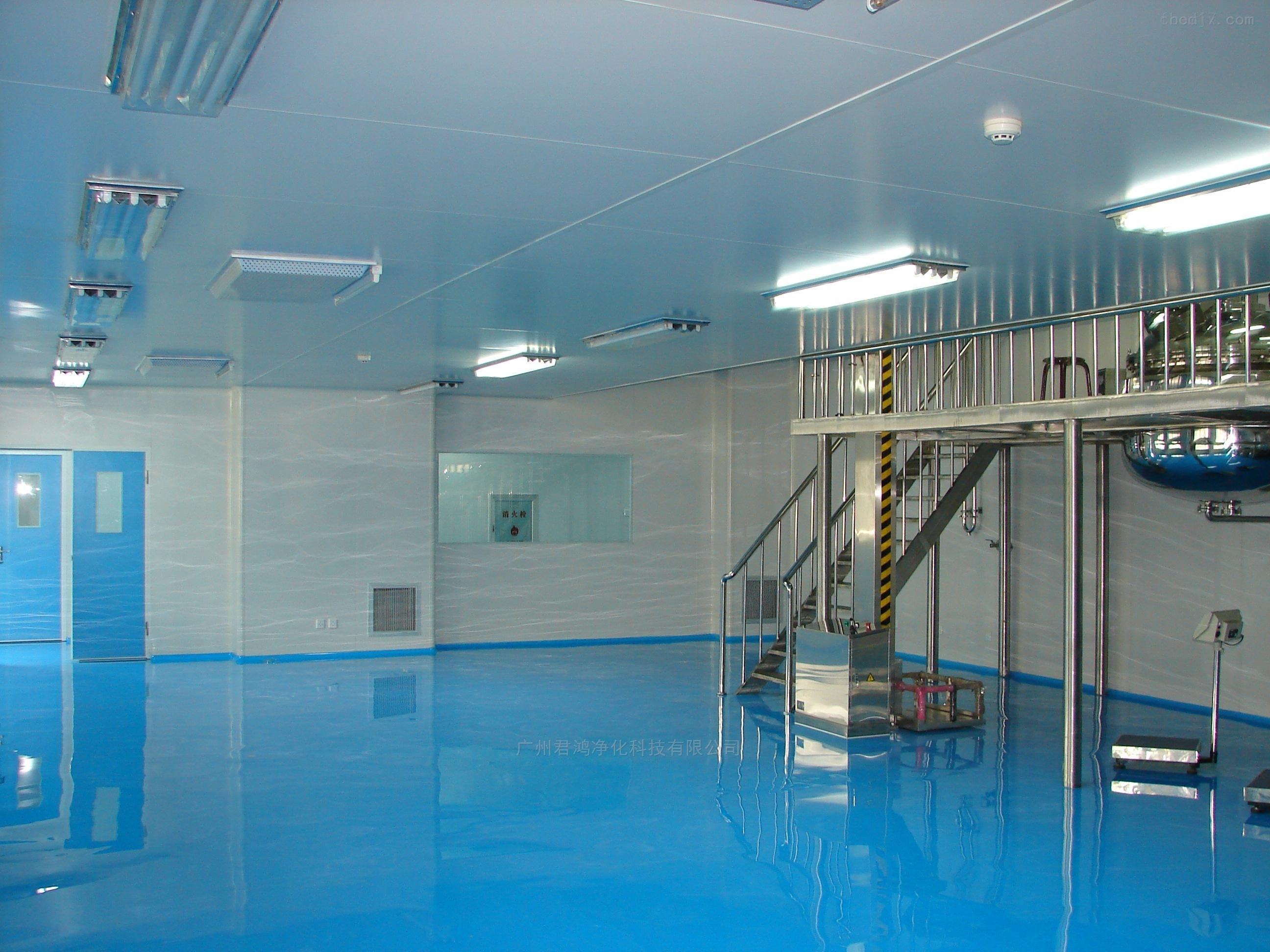 广州增城食品包装车间净化装修 设计与施工