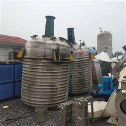 长期供应二手5吨不锈钢外盘管反应釜