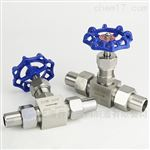 J23W外螺纹带焊接套管針型閥