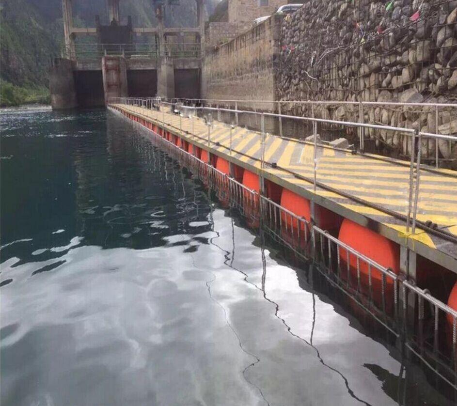 三角坝口杂物拦截塑料浮排