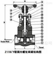 轩诚 Z41H低压明杆铸钢闸阀  锻钢闸阀价格