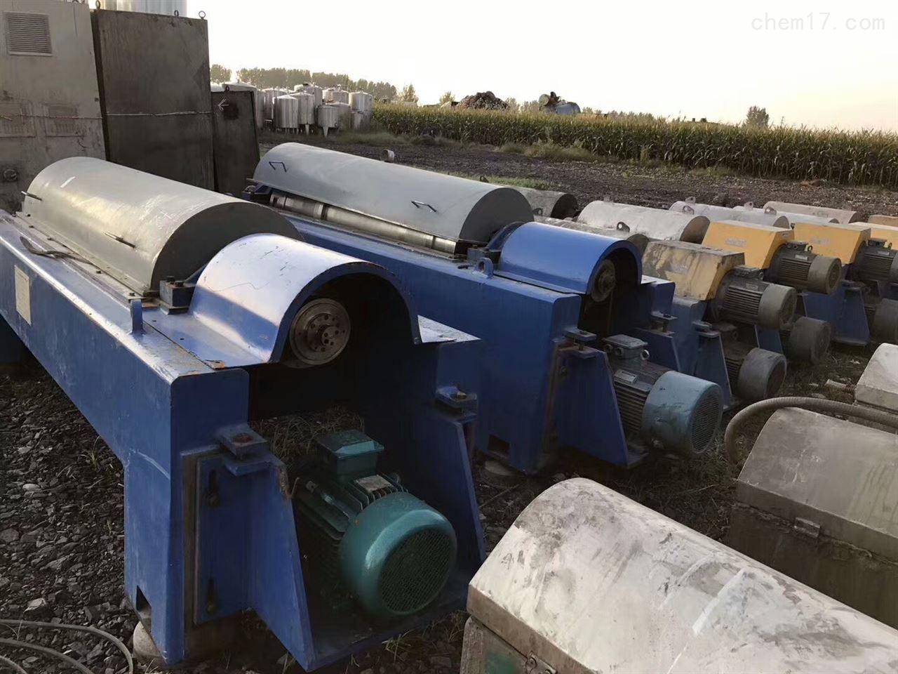 回收二手卧螺离心机污泥脱水机效果