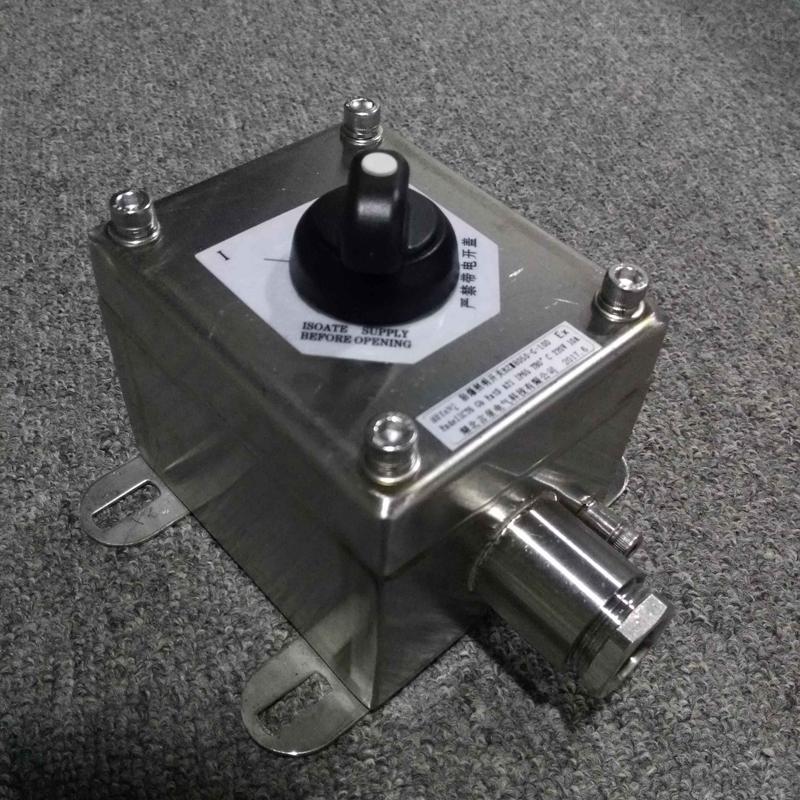 BZM5050-G-10A304不锈钢防爆手柄旋钮开关盒