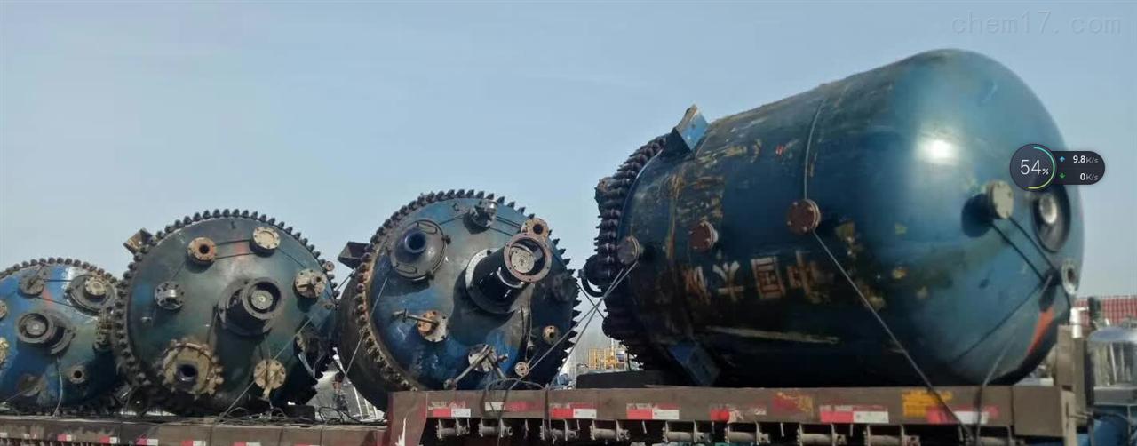 金华出售二手5000L搪瓷反应釜回收