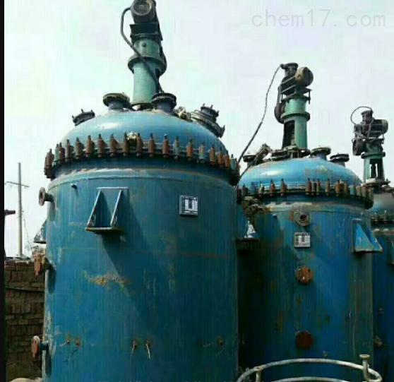 供应九成新二手5000L搪瓷反应釜回收