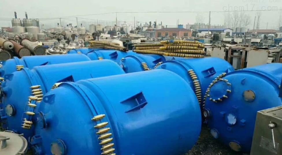 回收转让二手不锈钢电加热反应釜价格