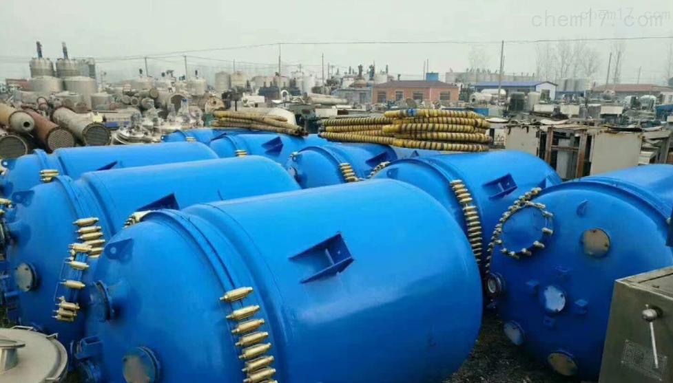 回收低价出售二手5吨外盘管不锈钢反应釜