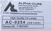 ALPHA-CURE 紫外線燈管 KB1306(AC0254)