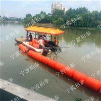 水上整合式隔离浮筒拦污清理浮体
