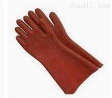 12KV橡胶绝缘手套 电工手套 红棕色 加长