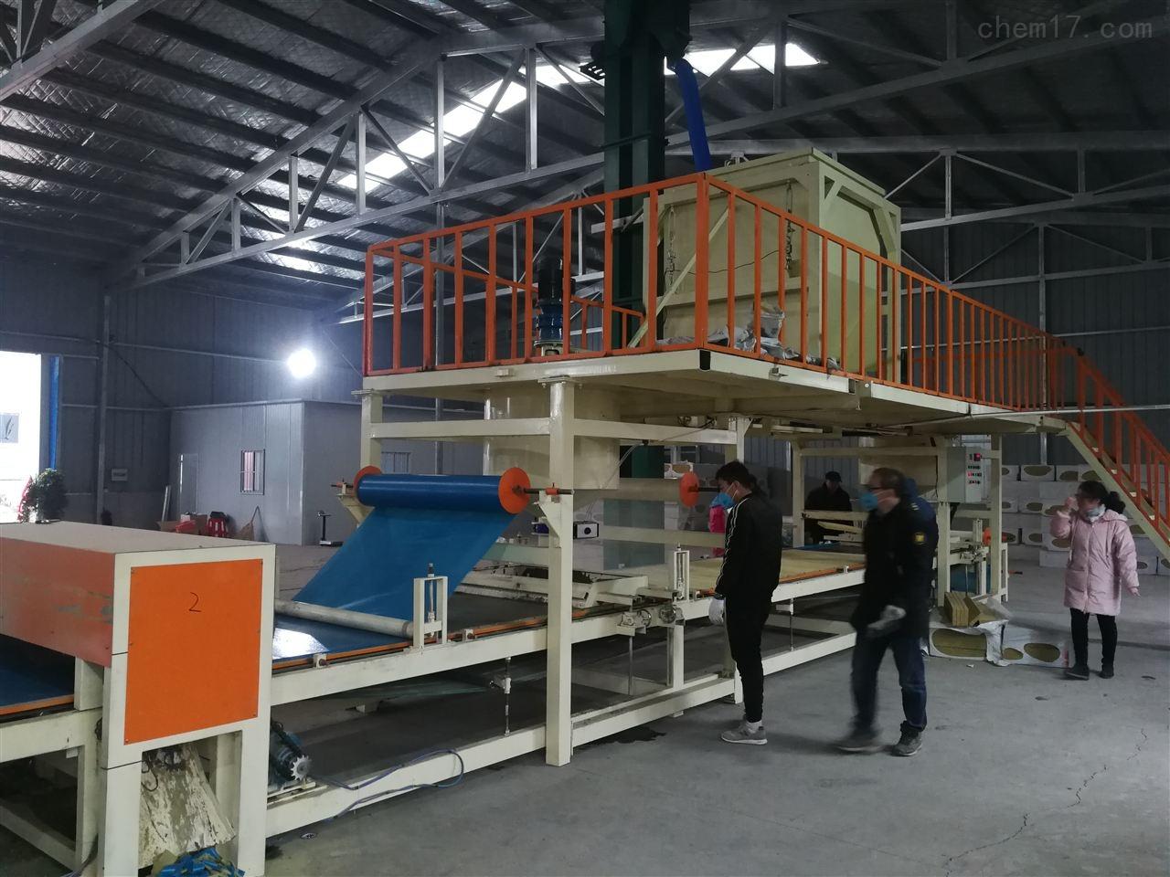 双麻面小型砂浆纸岩棉复合板设备供应