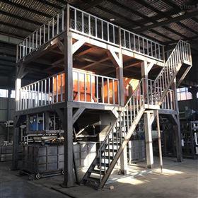 全自动压制颗粒板切割锯匀质板生产设备