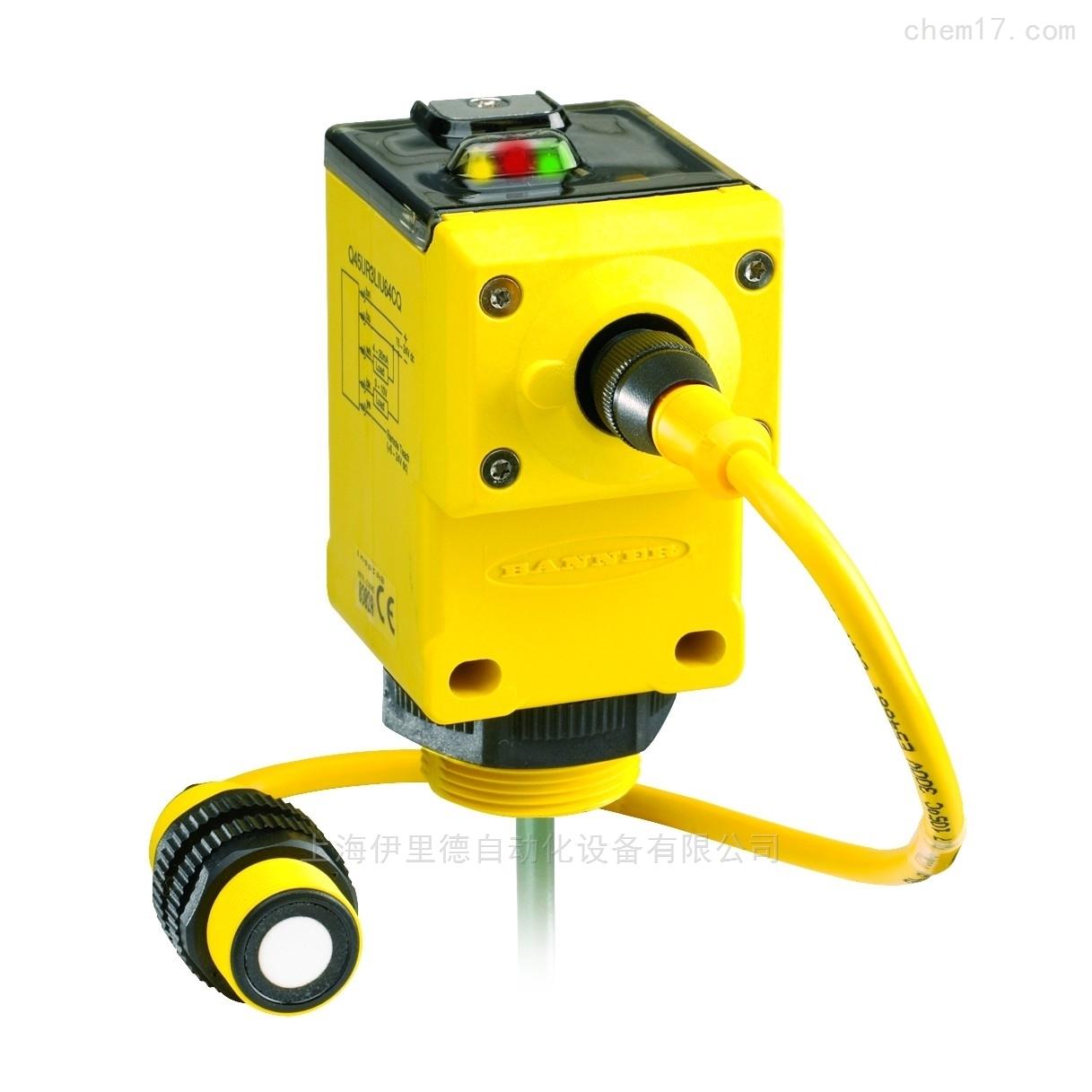 美国邦纳BANNER分离式超声波传感器