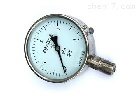 不锈钢压力表Y-63BF