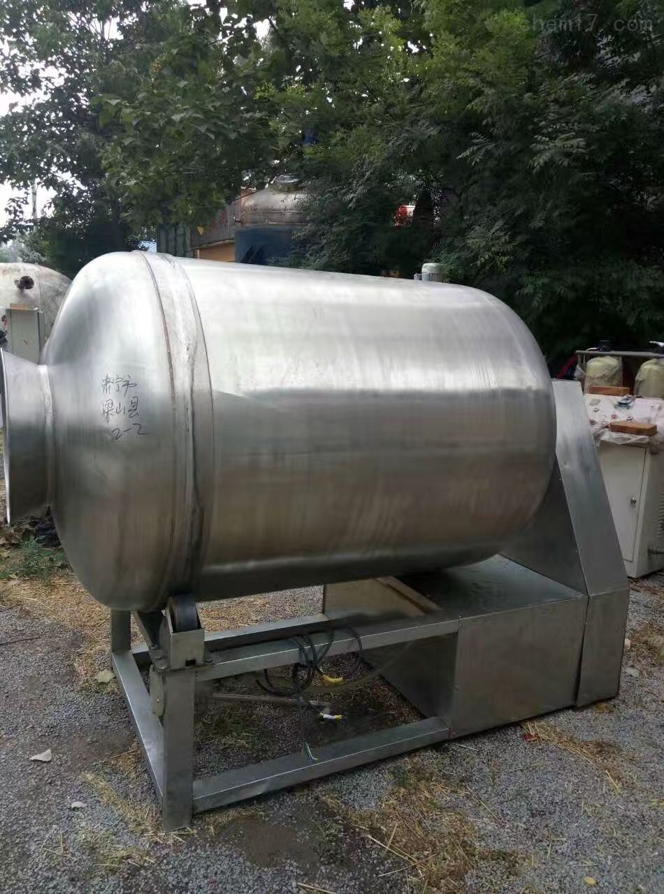 回收二手不锈钢真空滚揉机型号50L100L等