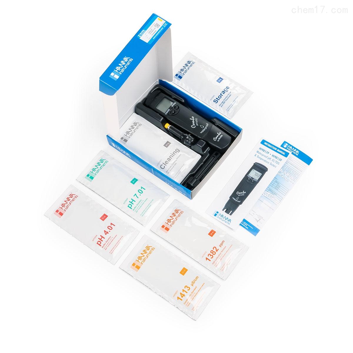 HI98129 低量程 pH-EC-TDS-℃测定仪
