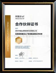 标准级阿里云loT系统集成商合作伙伴