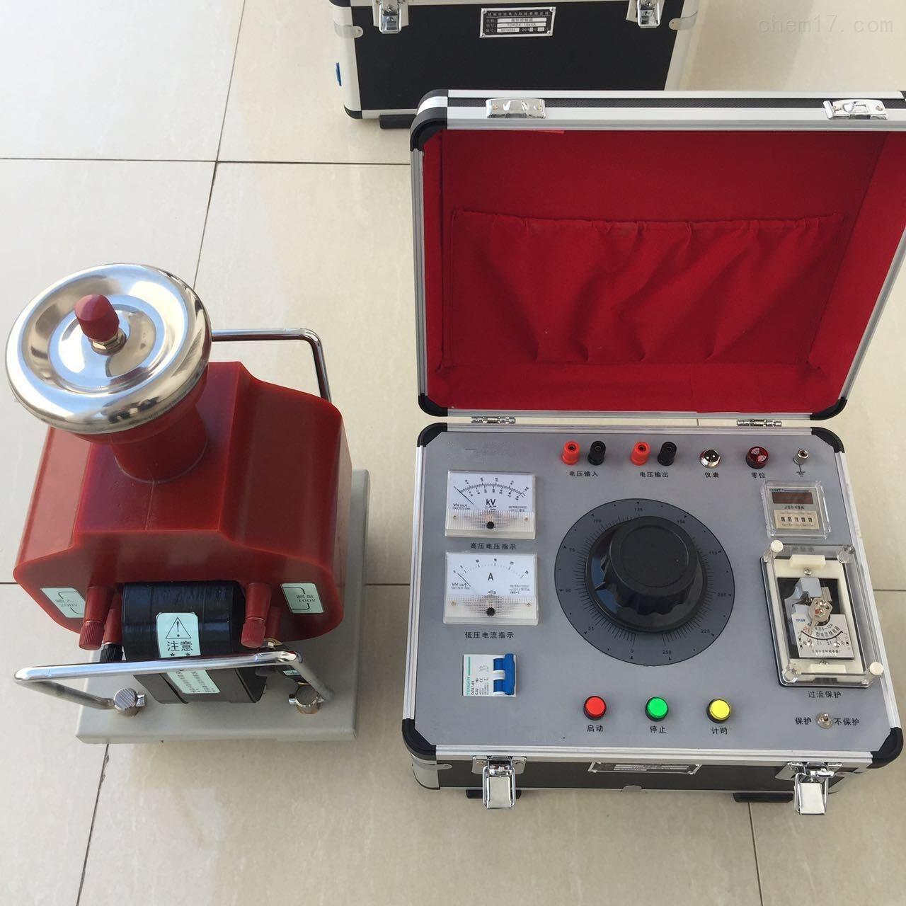 工频耐压试验装置技术参数