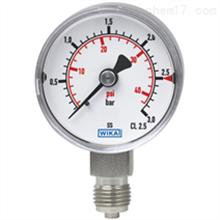 131.11德国威卡WIKA不锈钢材质波登管压力表