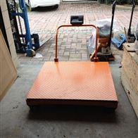 DCS-HT-Y南通1吨带轮子移动地磅 2t移动式电子磅秤