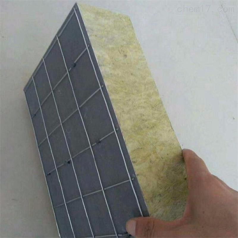 保温板50厚钢网插丝岩棉板