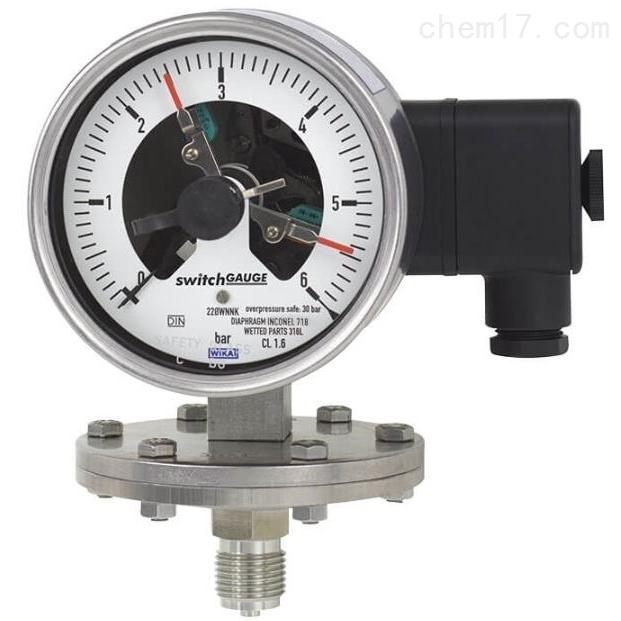 WIKA带开关电接点的膜片式压力表