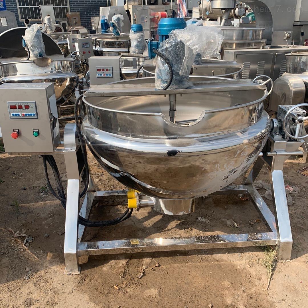 二手304电加热带搅拌夹层锅