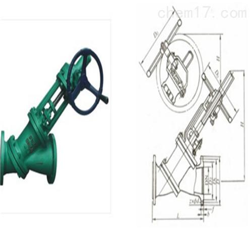 气动伞齿轮Y型料浆阀