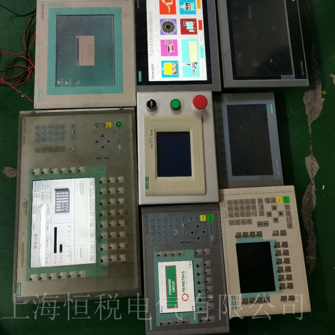 西门子触摸屏MP377开机显示白屏维修方法
