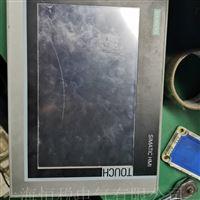 西门子显示屏TP1200通电卡机不动故障检测