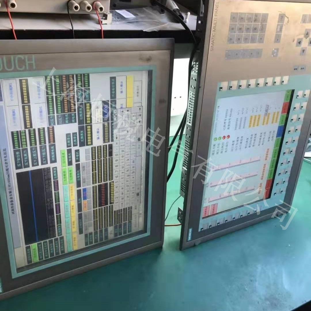 西门子显示屏TP1200开机黑屏/白屏故障修复