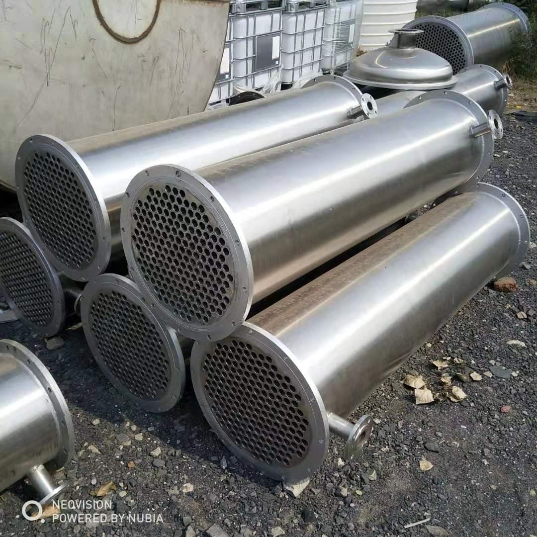 二手不锈钢列管式钛材质冷凝器厂家价格出售