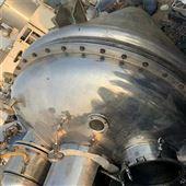 2000L回收二手设备锥形螺带真空干燥机