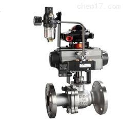 Q641H-16P-DN50气动不锈钢硬密封球阀